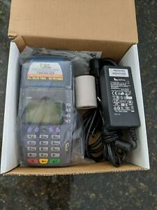 Brand New Verifone 3750 Card Terminal W chip Reader Power Supply