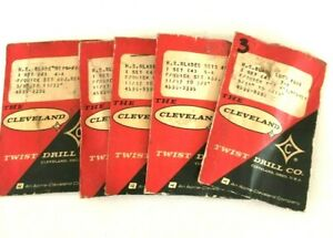 Blade Set Cleveland Twist Drill Co Vintage Lot Of 5 Packs 649 4 a 5 a 7 a