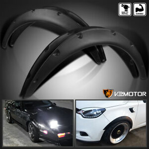 4pc Universal Flexible Front rear Car Fender Flares Extra Wide Body Wheel Arches