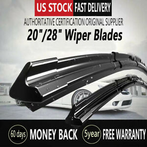 28 20 All Seasons Bracketless Windshield Wiper Blades J Hook Superior