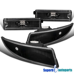 For 1993 2002 Camaro Front Rear Bumper Parking Signal Lights Side Marker Black