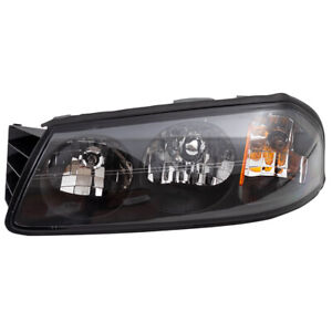 Headlight Fits 2000 2004 Chevrolet Impala Driver Side Headlamp Housing Assembly