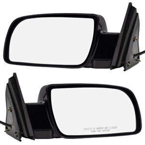 Pair Set Power Side View Mirrors W Metal Base For Chevy Gmc Suv Pickup Truck