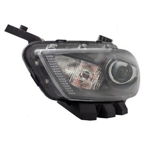 Headlight Assembly For 13 16 Dodge Dart Drivers Hid Lens Black Trim 68083911aj