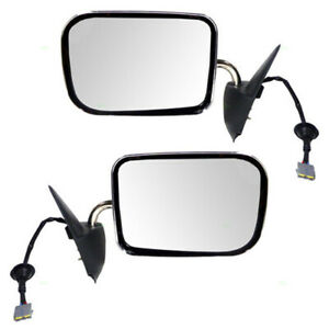 Pair Power Mirrors For 94 97 Dodge Ram Pickup Truck Outside Set Chrome Covers