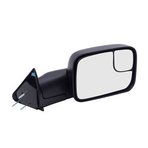 Towing Mirror For 94 02 Dodge Ram Pickup Truck Passengers Manual New Arm Design