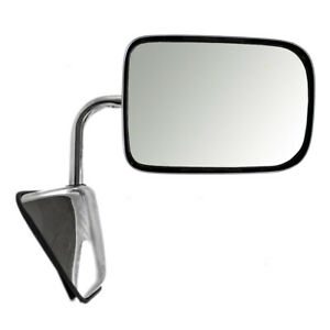 Manual Mirror For 88 93 Dodge Ram Truck Ramcharger Passengers Chrome 55074998