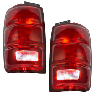 Tail Lights Pair Fits 1997 2002 Ford Expedition Driver Passenger Tail Lamp Set