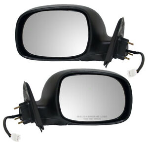 Fits Toyota Tundra Truck 00 06 Set Of Side View Power Mirrors W Chrome Covers