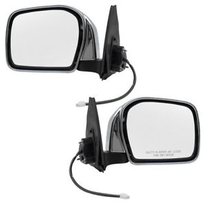 Fits Toyota Tacoma Truck 00 04 Set Of Side View Power Chrome Mirrors W Housing