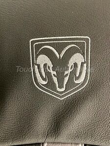 13 18 Dodge Ram Crew Cab Black Silver And Diesel Gray Leather Seat Covers Logos