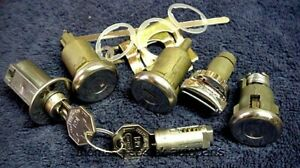 New Door Trunk Glove Ignition Console Locks With Keys Gm Chevy Impala 1963