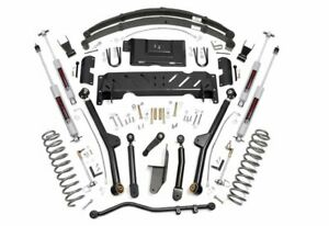 Rou 67222 Rough Country Fits 84 01 Jeep Cherokee Xj 6 5in Long Arm Lift Kit