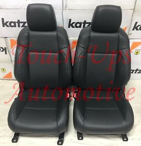 20 21 Toyota Tacoma Double Cab Katzkin Black Leather Seat Covers Electric Driver
