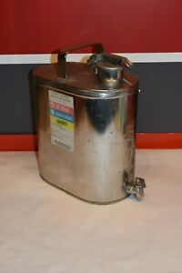 Protectoseal Stainless Steel 2 Gallon Solvent Flammable Gas Safety Can F892p
