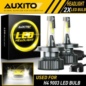 2x Auxito H4 9003 Hb2 16000lm Led Headlight High Low Beam 6500k Bulbs Canbus Y13