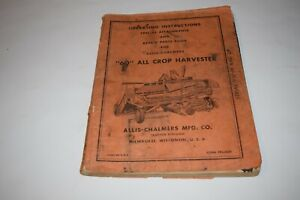 Allis chalmers 60 All Crop Harvester Operating Instructions