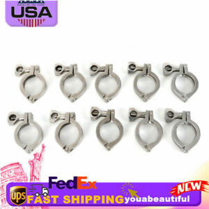 10pcs 2 Stainless Steel Tri Clamp Fastener Ferrule Clamp Heavy Duty Pin Clamp