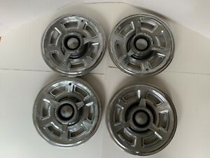 vintage Set Of 4 1965 Pontiac Gto Spinner Hubcaps