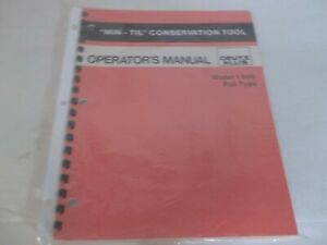 Allis chalmers Min til Conservation Tool 1500 Pull Type Operator s Manual