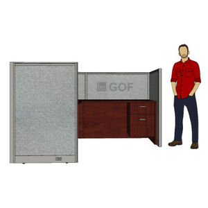 Gof 1 Person Workstation Cubicle 5 d X 6 w X 4 h office Partition room Divider