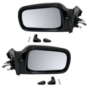 Fits Honda Civic Hatchback 88 89 90 91 Set Of Side View Manual Remote Mirrors