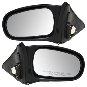 Fits Honda Civic Coupe 96 00 Set Of Side View Power Mirrors W Flat Finish