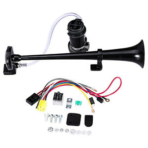 150 Db Train Horn With Air Compressor 12v Trumpet Loud Liter Single For Trucks