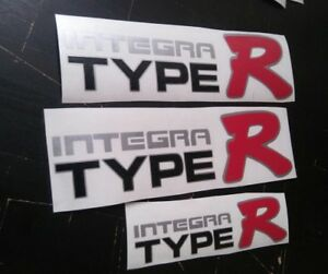 Honda Japan Integra Type R Decal Black Variant Sticker Jdm Oem Size Illest Dc2