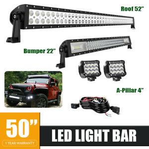 Roof 52 300w Led Light Bar With 306w 36w Lights For Jeep Grand Cherokee