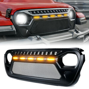 Xprite Front Grille Mesh Led Lights For 2018 2021 Jeep Wrangler Jl Gladiator Jt