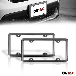 2 Pcs Brushed Dark Chrome S Steel License Plate Frame For Toyota Corolla
