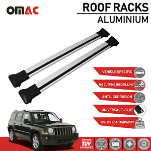 Roof Rack Cross Bars Luggage Carrier Silver For Jeep Patriot 2006 2017