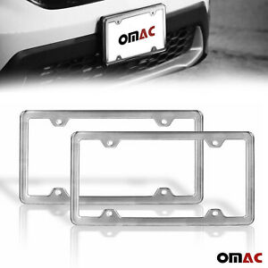 2 Pcs Brushed Chrome S Steel License Plate Frame For Toyota Corolla