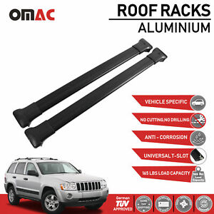 Roof Rack Cross Bars Luggage Carrier Black For Jeep Grand Cherokee 2005 2011