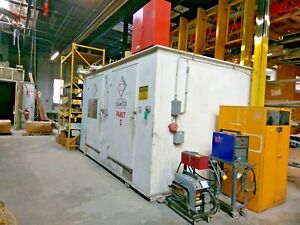 Haz stor Lf 1016 Flammable Drum Storage Building 2 Doors With Fire Suppression