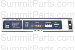 Replacement Nameplate For Dexter Wcad25 Washer 9412 137 001