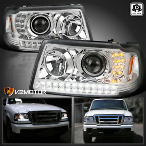Fits 2001 2011 Ford Ranger Led Drl Projector Headlights led Signal Corner Lamp