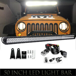New Straight 50inch 700w Led Light Bar Flood Spot Roof Driving For Offroad Truck