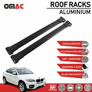 Roof Rack Cross Bars Luggage Carrier Black For Bmw X6 2009 2014