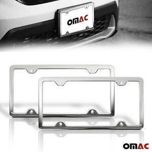 2 Pcs Chrome S Steel License Plate Frame Tag Holder For Toyota Corolla