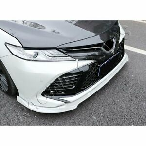 Fit 2018 2020 Toyota Camry 3pcs Painted White Front Body Kit Bumper Spoiler Lip