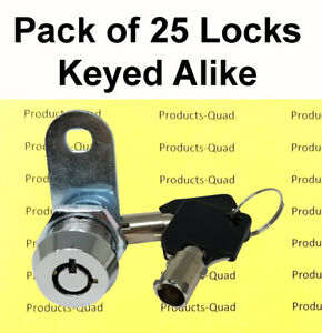 25 Keyed Alike Nonretaining 5 8 Tubular Cam Lock Rv Camper Drawer Toolbox