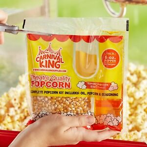 36 Pack Carnival King All in one Concession Stand Popcorn Kit For 6 Oz Popper