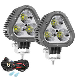 2x Led Work Lights Spot Flood For Car Marine Offroad Boat Light Driving Wiring