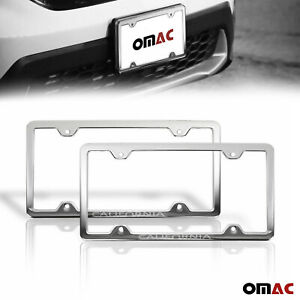 California Print License Plate Frame Tag Holder Chrome S steel For Toyota Camry