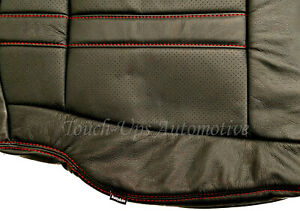 2015 2020 Ford F 150 Xlt Supercrew Katzkin Black Red Leather Seat Covers Perfed