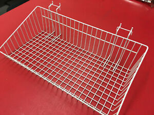 Mini Wire Grid Basket For Wire Grid 24 X 12 X 6 W Slaped White Display In Store