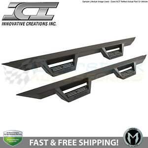 Ici Magnum Rt Rts75ty Black Drop Steps Nerf Bars For 2014 2019 Toyota 4runner