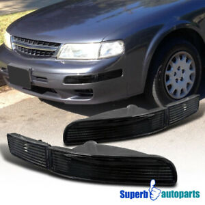 For 1995 1999 Maxima Parking Signal Bumper Lights Black Pair Replacement